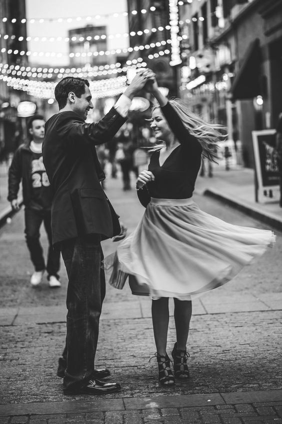Couple portrait dance