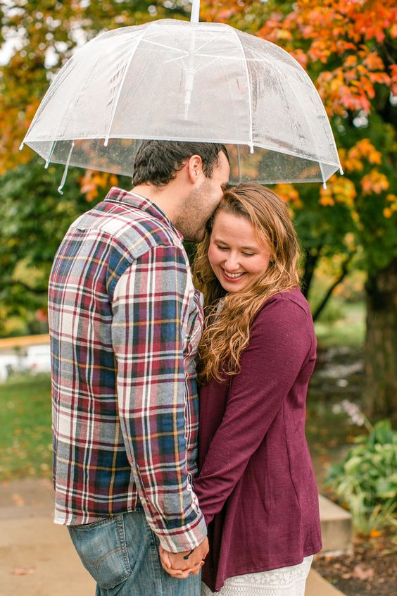 Couple portrait with umbrella