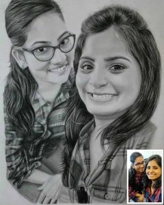 Pencil sketch as gift