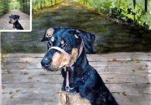 Pet oil portrait as pet loss gift