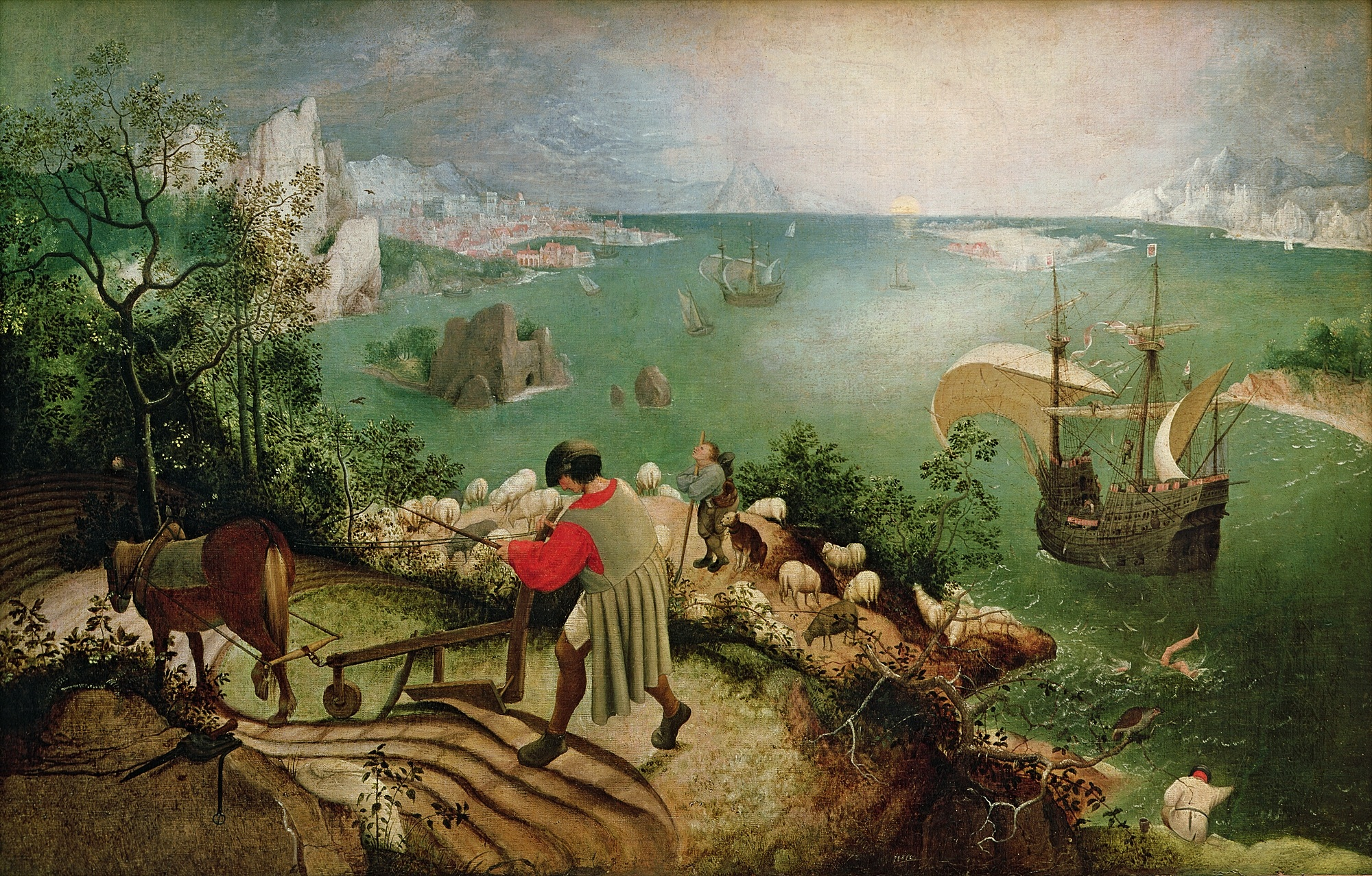 Landscape with full of Icarus