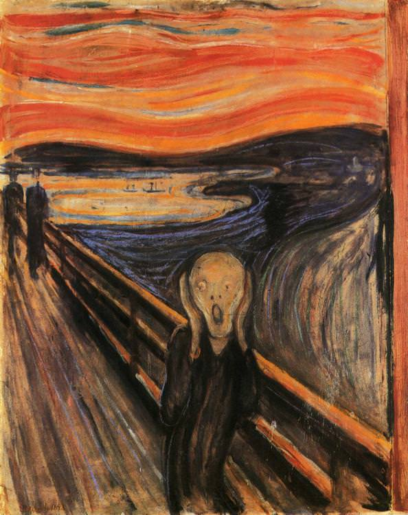The Scream famous painting