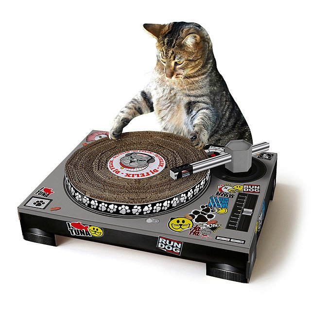 DJ Scratch Pad as Christmas gifts for cat lovers