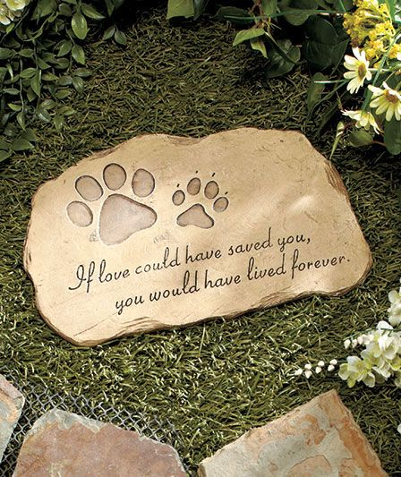 Pet memorial garden stone as pet loss gift