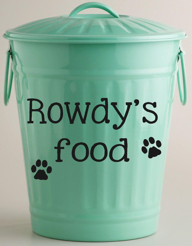 Custom Dog Food Storage Container