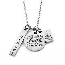 Faith pendant as baby's first birthday gift Idfeas
