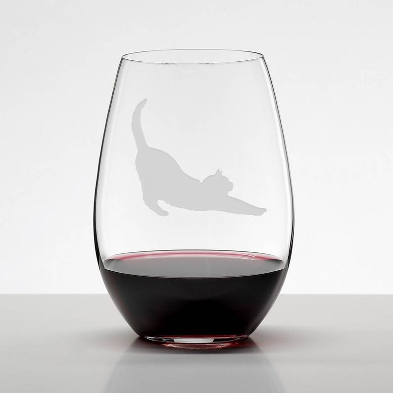 Wine Glasses as christmas gifts for Catlovers