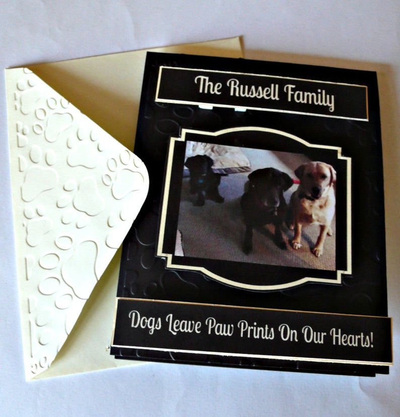 Customized Etsy cards as pet loss gift idea