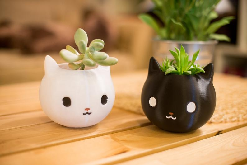 Kitty Planters as christmas gifts for cat lovers