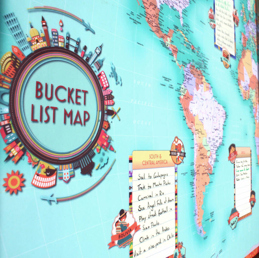A world in the bucket list