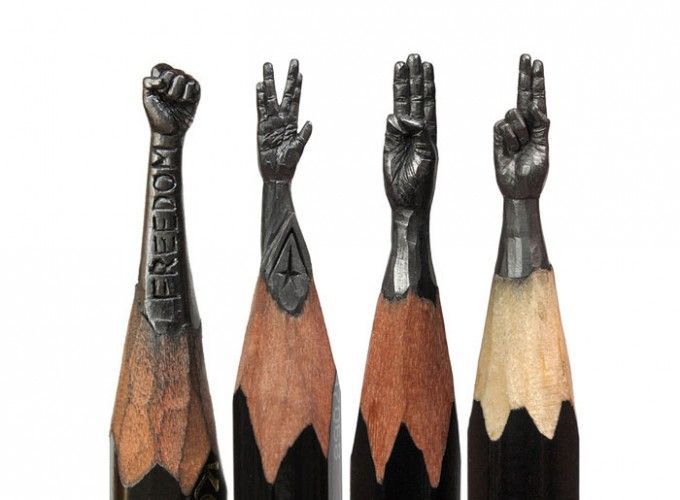 Carved pencils as birthday gifts