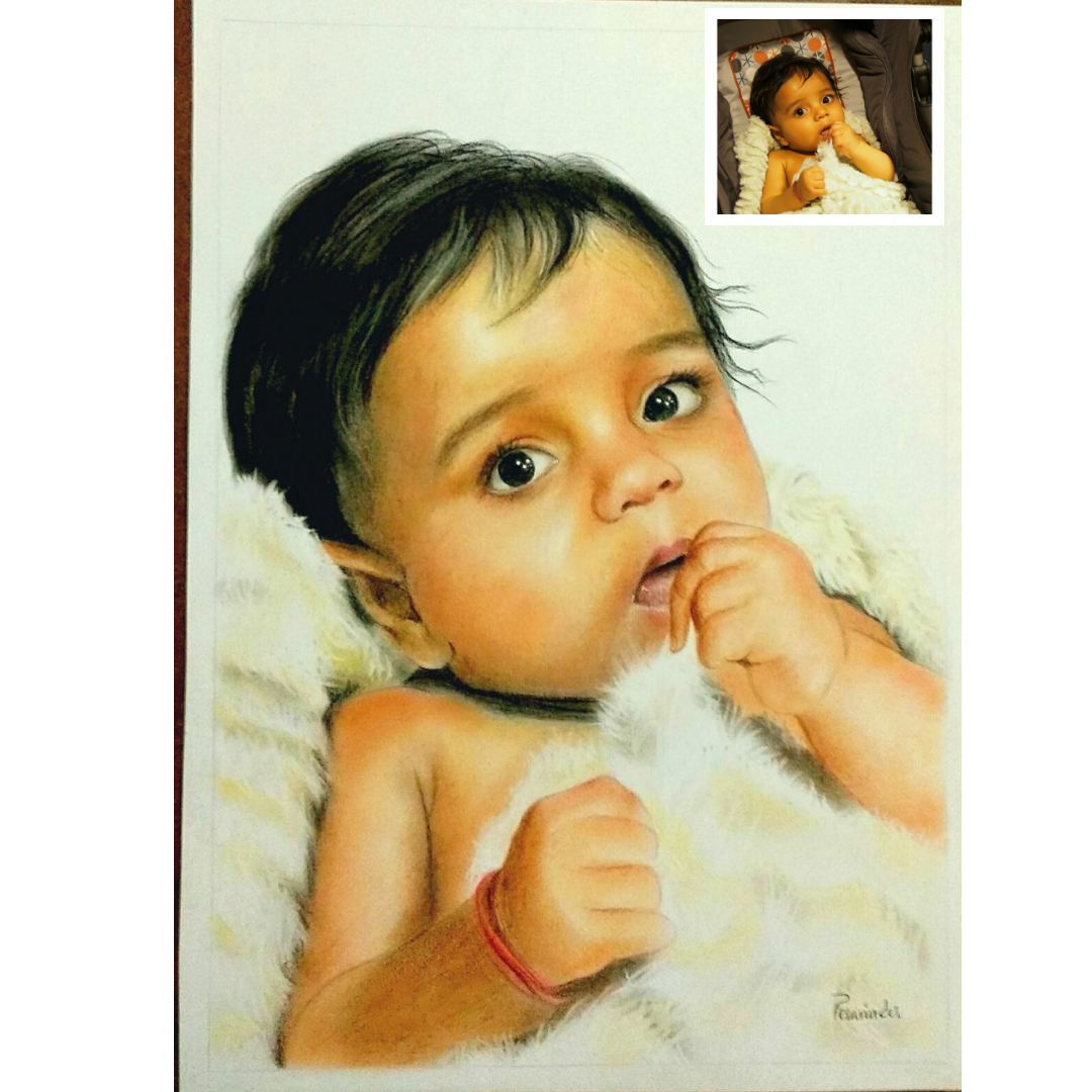 Handmade Baby Oil Portrait (Gift for Boyfriend)