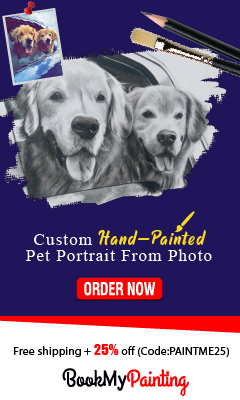 Pet Portrait Paintings by BookMyPainting