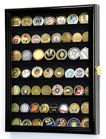 Coin Display Case as military retirement gift