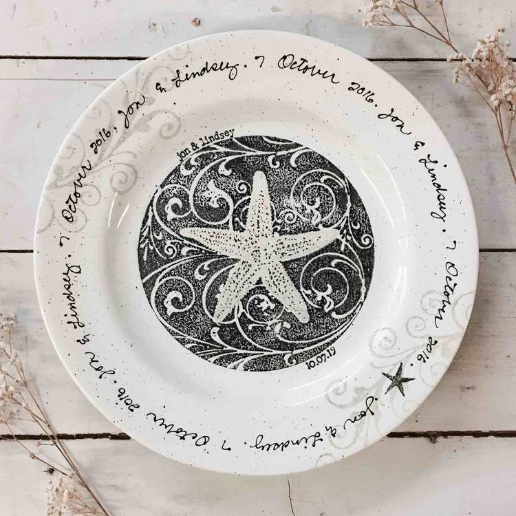 Personalized Crockery Set as housewarming gift