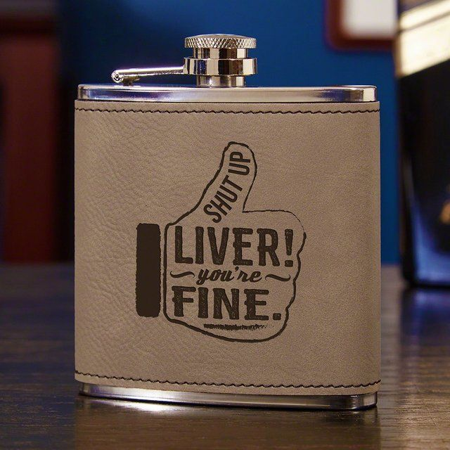 Funny Message Flask as 18th birthday gift