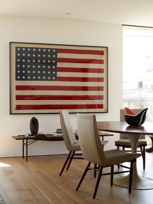 A framed Flag as military retirement gift