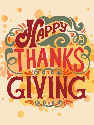 A Thanksgiving Card