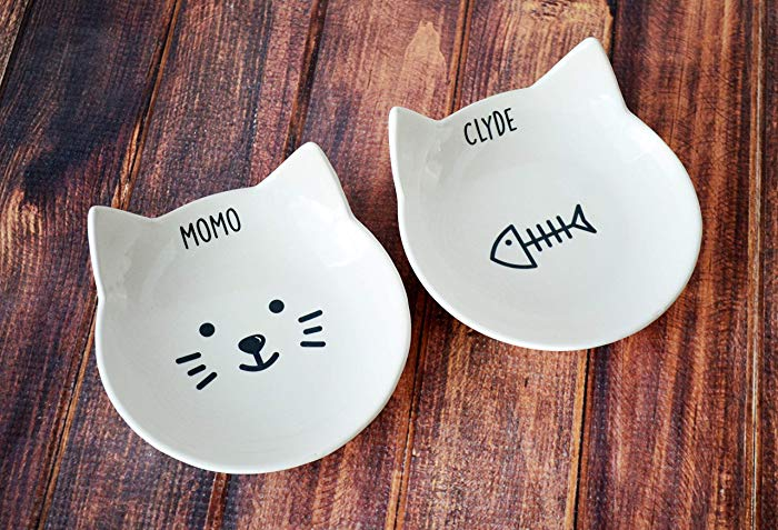 Personalized Food Dish As Cat Birthday Gift
