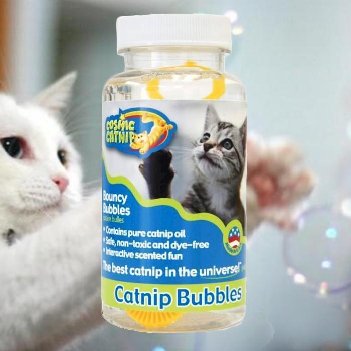 Catnip Bubbles As Cat Birthday Gift
