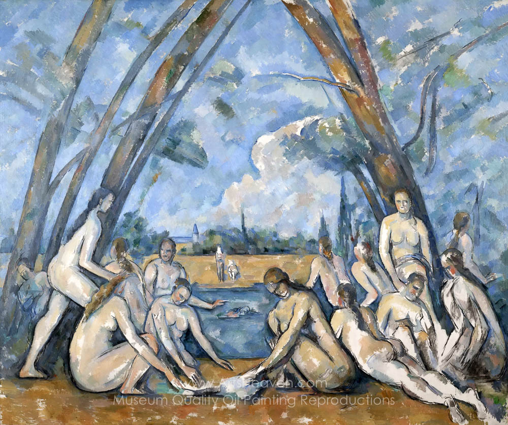 The Bathers by Cezanne