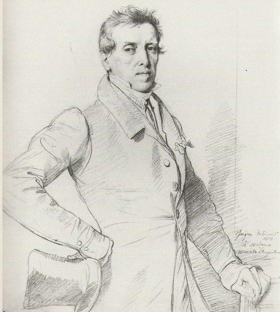 Portrait De Charles Marcotte, 1838 By J-A-D Ingres