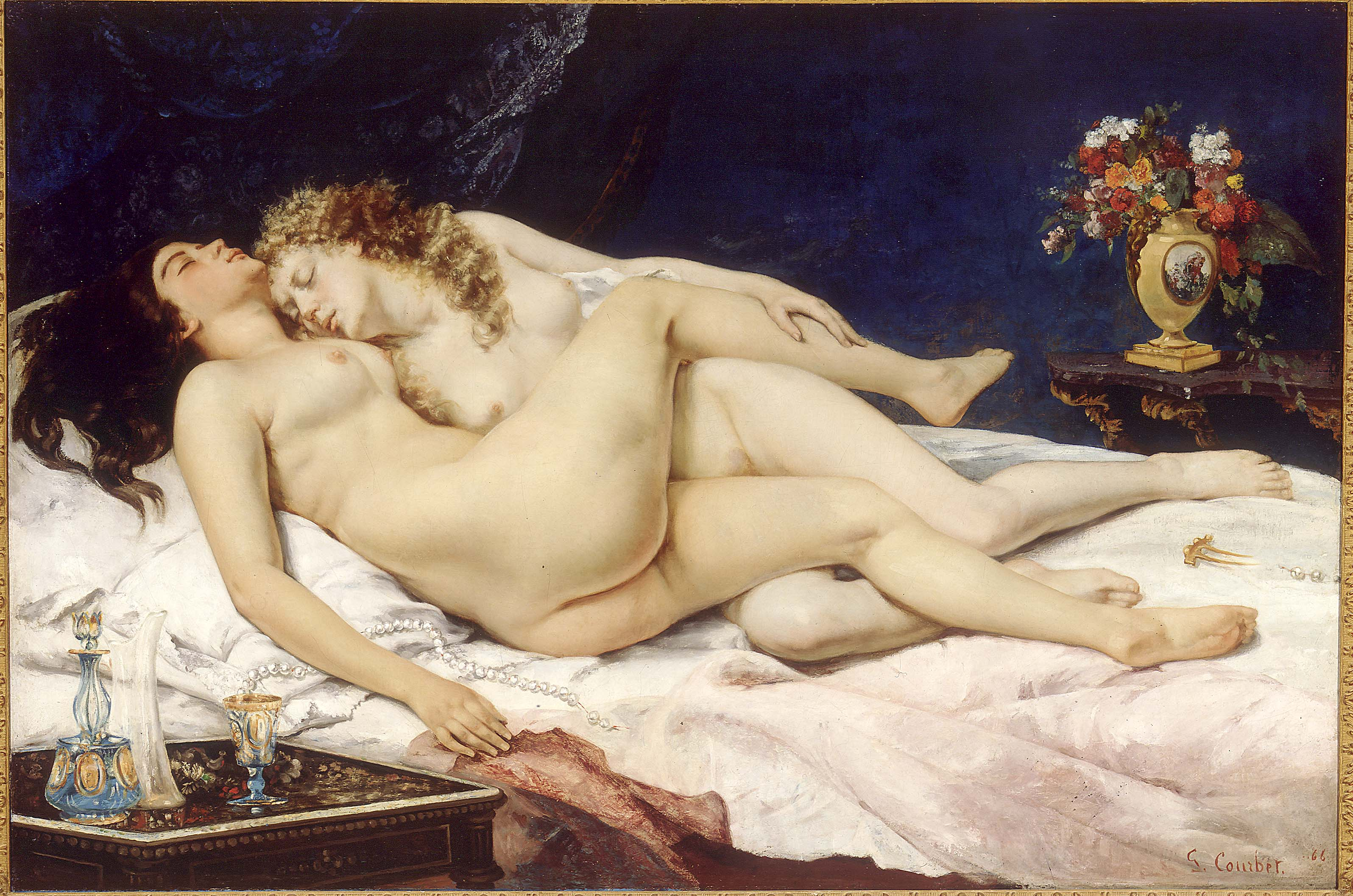 Le Sommeil by Gustave Courbet