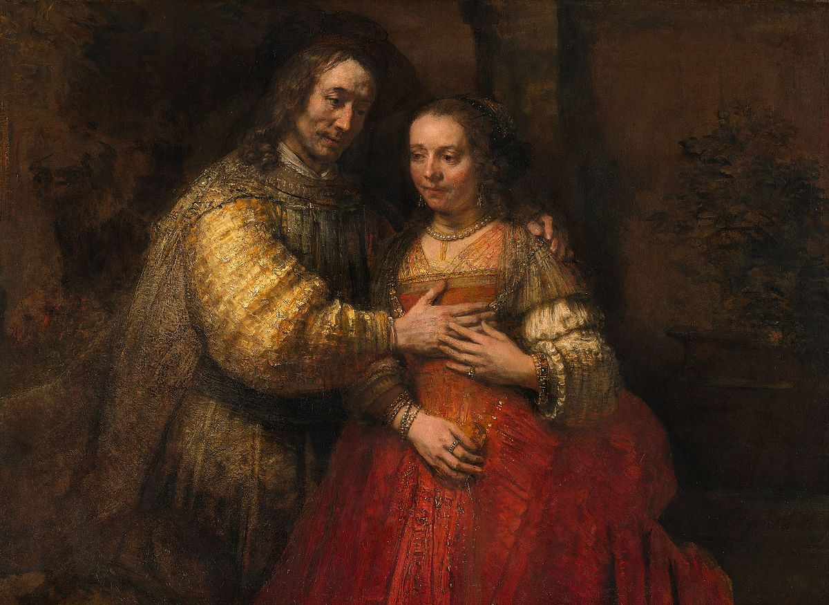 The Jewish Bride by Rembrandt (Romantic Paintings)