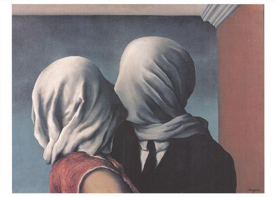 The Lovers by Rene Magritte (Romantic Paintings)