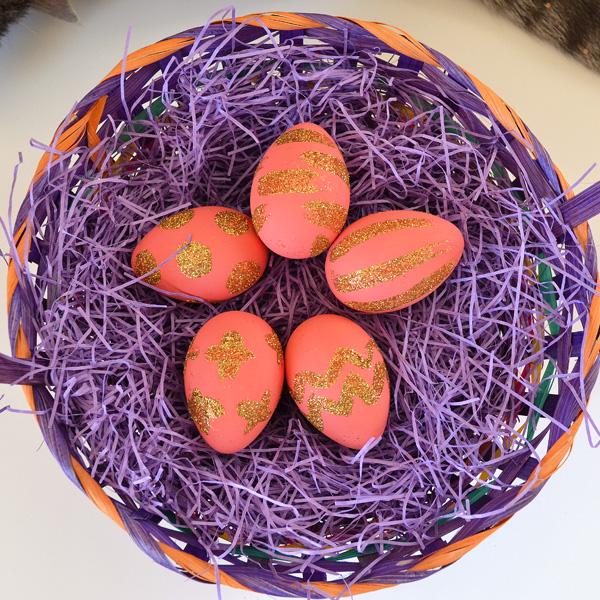 Glitzy eggs