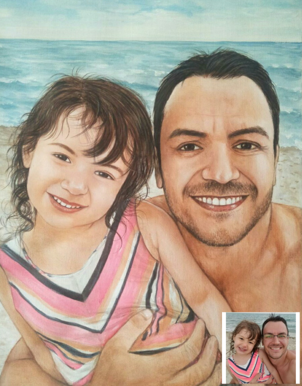 Handmade Colored Pencil Baby Drawing