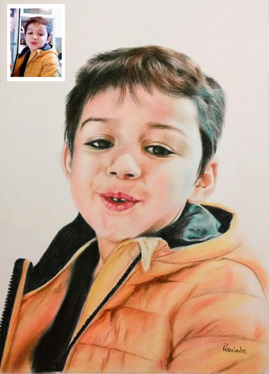 Color Pencil Drawing From Photo