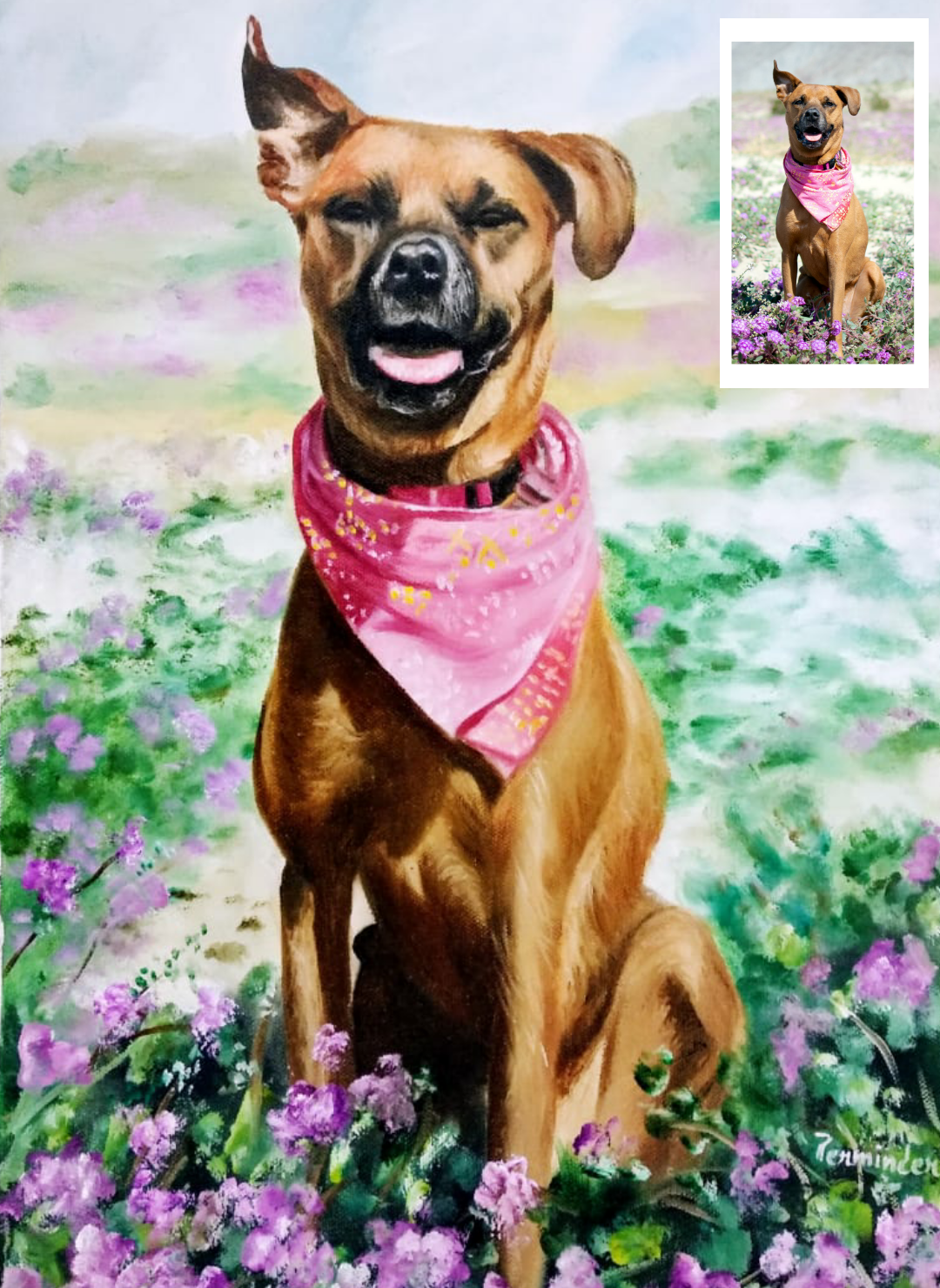 Hand-made Pet Portraits (Valentine's Day Gifts for Boyfriends)
