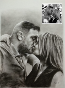 Hand-made Charcoal Portrait