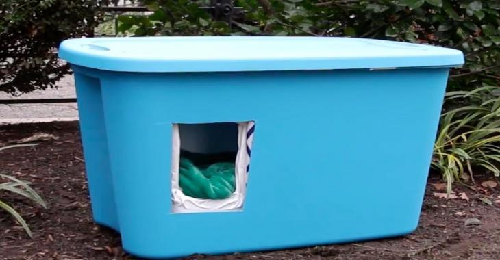 Styrofoam Cat House
