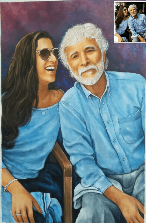 100% Handmade Oil Painting On Canvas