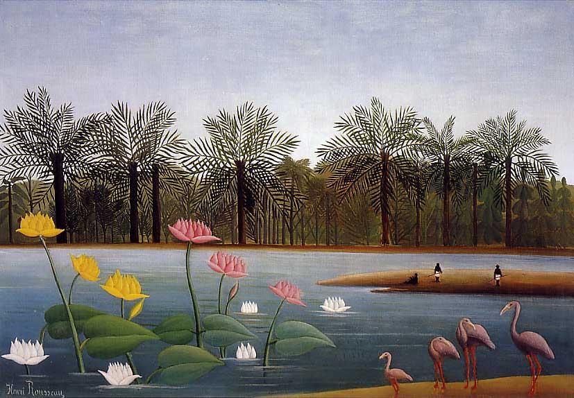 The Flamingos- Henri Rousseau